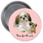 Shih Tzu Breast Cancer Button