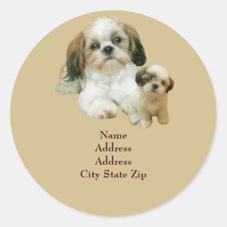 Shih Tzu Buddies Address Label