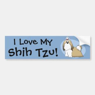 Shih Tzu Bumper Sticker Car Bumper Sticker
