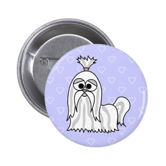 Shih Tzu Cartoon Pinback Button