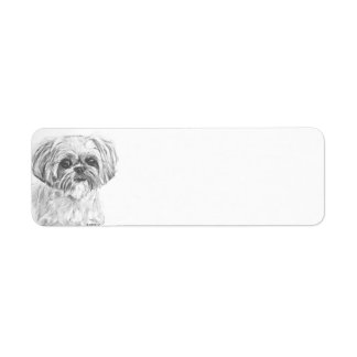 Shih Tzu Charcoal Label