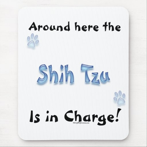 Shih Tzu Charge Mouse Pad