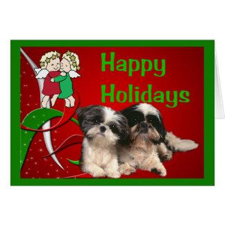 Shih Tzu Christmas Cards - Greeting & Photo Cards | Zazzle