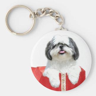 Shih Tzu Christmas gift Keychains