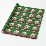 Shih Tzu Christmas Gift Wrap Paper