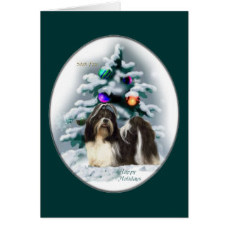 Shih Tzu Christmas Gifts Card