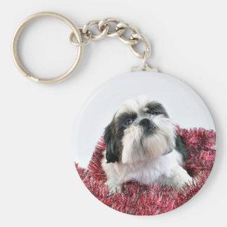 Shih Tzu Christmas Key Chains