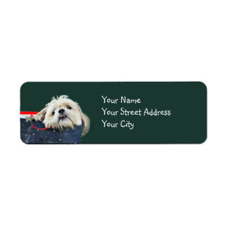 Shih Tzu Christmas Label