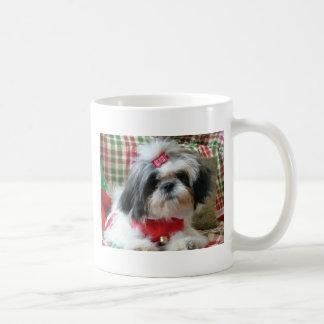 shih-tzu christmas mug