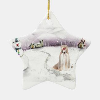 Shih-tzu Christmas ornament