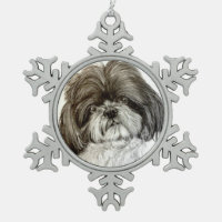 Shih Tzu Christmas Ornament by Carol Zeock