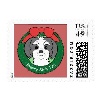 Shih Tzu Christmas Postage
