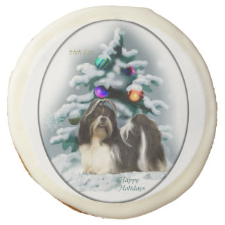 Shih Tzu Christmas Sugar Cookie