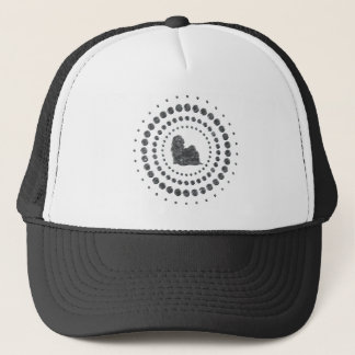 Shih Tzu Chrome Studs Trucker Hat