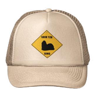 Shih Tzu Crossing (XING) Sign Trucker Hat