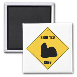 Shih Tzu Crossing (XING) Sign Magnet