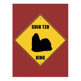 Shih Tzu Crossing (XING) Sign Postcard