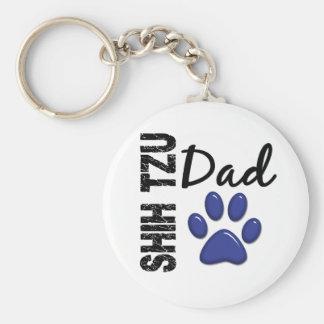 Shih Tzu Dad 2 Keychains