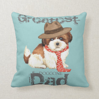 Shih Tzu Dad Throw Pillow