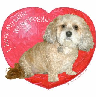 Shih Tzu/día de San Valentín de la mezcla del cani Fotoescultura Vertical