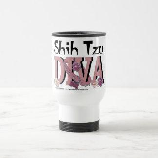 Shih Tzu DIVA 15 Oz Stainless Steel Travel Mug