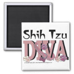 Shih Tzu DIVA 2 Inch Square Magnet