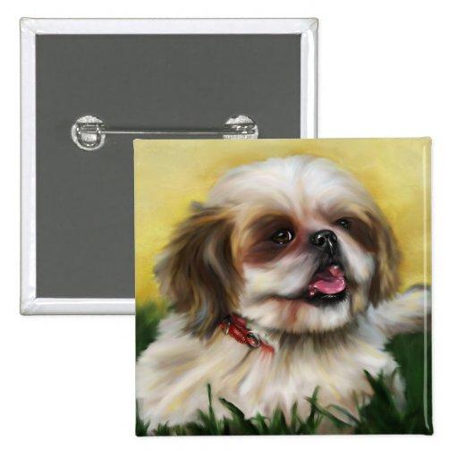 Shih Tzu Dog Art - Sophie Buttons