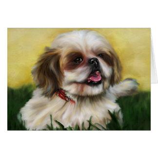 Shih Tzu Dog Art - Sophie Greeting Cards