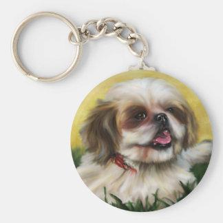 Shih Tzu Dog Art - Sophie Keychain