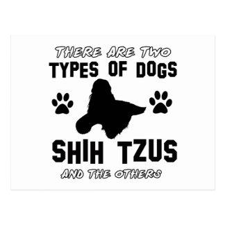 Shih Tzu dog breed designs Postcard