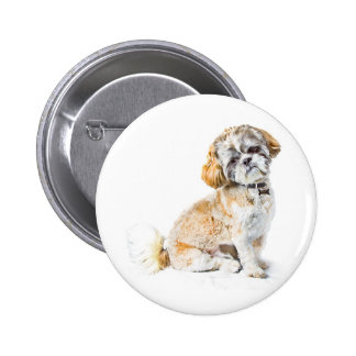 Shih Tzu Dog Button Badge