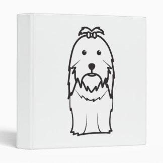 Shih Tzu Dog Cartoon Binder