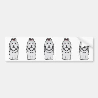 Shih Tzu Dog Cartoon Car Bumper Sticker