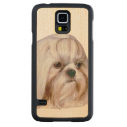 Carved ® Samsung Galaxy S5 Slim Wood Case with Shih Tzu Phone Cases design