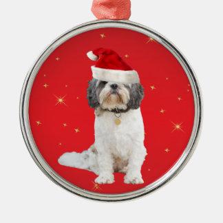 Shih Tzu dog christmas holiday decoration ornament