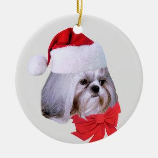 Shih Tzu Dog Christmas Ornament