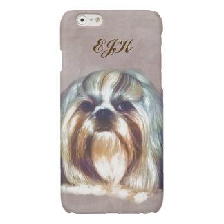 Shih Tzu Dog Customizable Monogram Glossy iPhone 6 Case