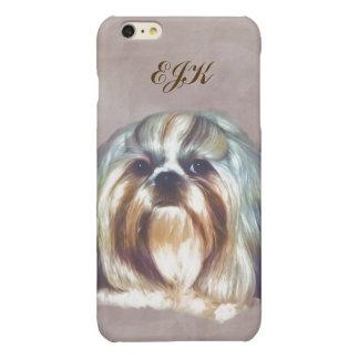 Shih Tzu Dog Customizable Monogram Glossy iPhone 6 Plus Case