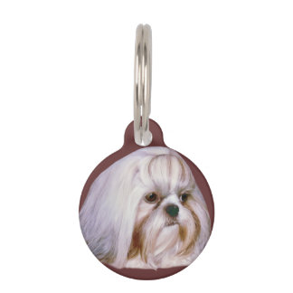 Shih Tzu Dog Customizable Pet Name Tag
