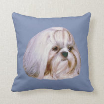 Shih Tzu Dog Customizable Throw Pillow