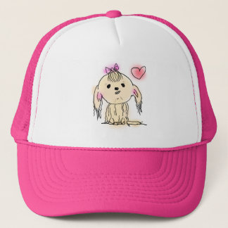 Shih Tzu Dog Cute Illustration Trucker Hat