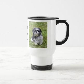 Shih tzu dog cute photo beautiful travel mug
