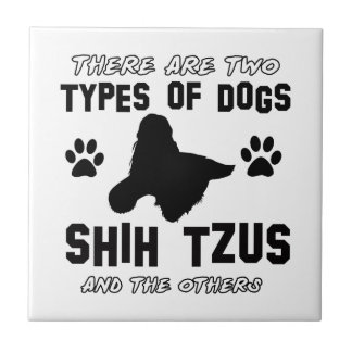 shih tzu dog Designs Tile