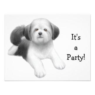 Shih Tzu Dog Invitation