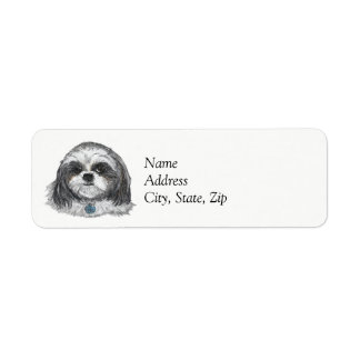 Shih Tzu Dog Label