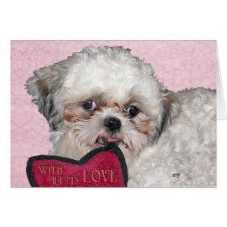 Shih Tzu Dog Loves You Card