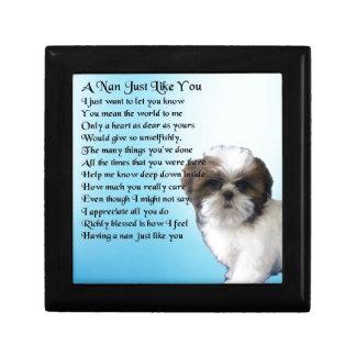 Shih Tzu Dog - Nan Poem Gift Box