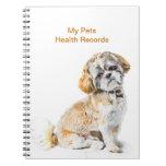 Shih Tzu Dog Pet Health Record Notebook