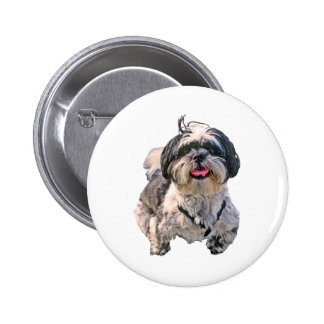Shih Tzu Dog Pinback Button