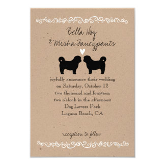 Shih Tzu Dog Silhouettes Wedding Invitation
